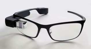 """""""Google Glass with frame"""" by Mikepanhu - Own work. Licensed under CC BY-SA 3.0 via Wikimedia Commons."""