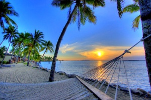 beach-hammock-sunset
