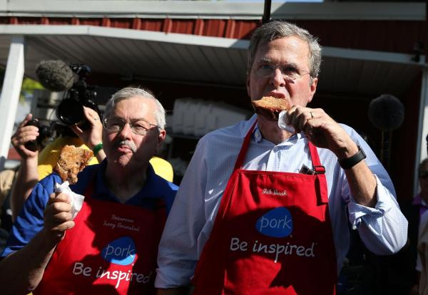"""Hillary took a bite, now we're all gonna have to take a bite. Thanks, Hillary!"" (Jeb)"