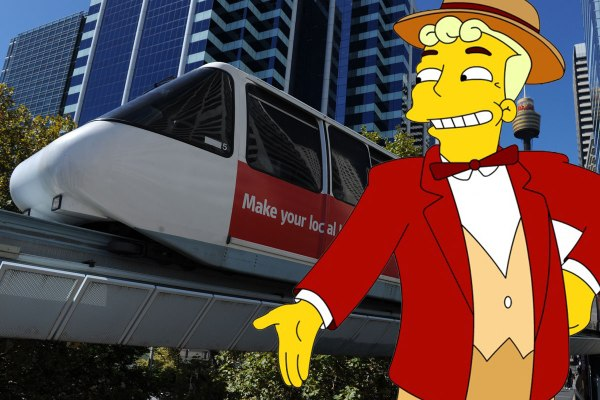 """This town needs a monorail!"" (Trump)"